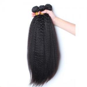 China Coarse Yaki  Brazilian Hair Weave Bundles Italian Yaki 10-30 on sale