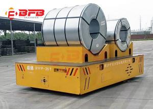 China Customized Cart Frame Automated Guided Steerable Transfer Car For Steel Coil on sale
