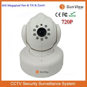China SunView 720P 1.0mp wifi wireless two ways audio P2P PT easy set home alarm CCTV IP camera on sale