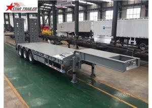 China Hydraulic Ramp Truck Low Bed Trailer , High Capacity Lowboy Drop Deck Trailer on sale