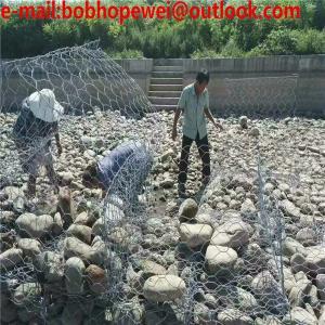 China 80*100mm/100*120mm galvanized Rock gabion Basket /Gabion Wire Mesh for retaining wall/gabion fence/gabion box on sale