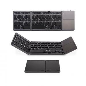 China Foldable Bluetooth Keyboard,ABS Portable Mini Keyboard with Touchpad for IOS,Android on sale