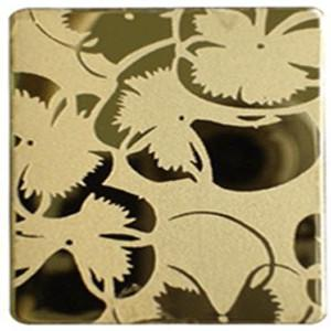 China 8K Surface Art Etching / Etched Ti-Coating Colored Stainless Steel Sheets / Plates on sale