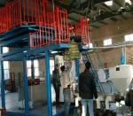 Durable Monolayer Blown Film Machine , Rotary Blowing Machine For PVC Film