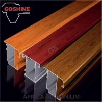 High Hardness Wood Finish Aluminium Profiles T5 T6 For Kitchen Door / Curtains