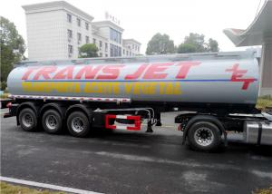 China Stainless Steel 30 Tons Fuel Tank Trailer Tri-Axle 35000L 35M3 Fuel Oil Transport Tank Semi trailer on sale