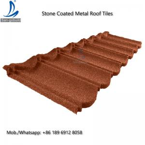 China Bond Tile GL Stone Coated Aluminum Roofing Sheet 0.4mm Thickness ISO9001 / CE / Soncap  Stone Coated Aluminum Roofing Sh on sale
