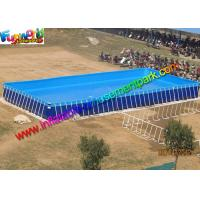 Summer Rectangular PVC Water Inflatable Swimming Pools with Metal Frame