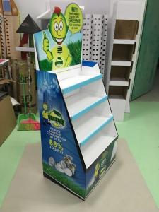China Advertising Lamp floor standing display / creative cardboard pop displays on sale