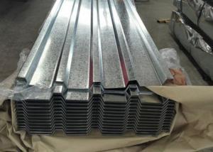 China White Grey Galvanized Metal Roof Panels , Exhibition Halls Galvanized Steel Corrugated Sheet on sale