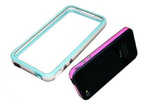 China Blue, green Apple Iphone Accessories bumper cases for iphone4 review on sale