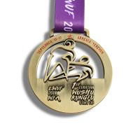 Hong Kong Wushu Sports Day Medals , Custom Diecast Medals Hollow Style
