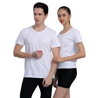 China Round Neck ODM White Cotton T Shirts Mens Summer Shirts Short Sleeve on sale