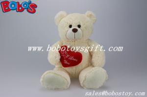 China 11 OEM Soft Plush Toy Animal Teddy Bear With Heart on sale