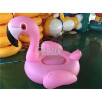 China Big Size Pink Inflatable Floating Pool Toys / Flamingo Animals on sale