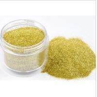 PET Gold Glitter Powder , Epoxy Coated For Fashion Accessories