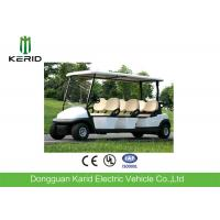 Battery Operated 6 Seater Electric Golf Carts , Electric Sightseeing Vehicle