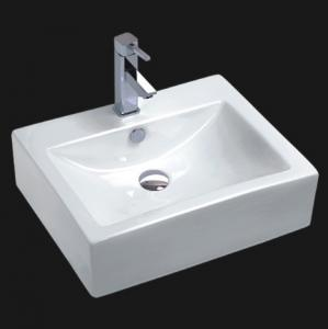 China White Ceramic Art Basin Countertops on sale