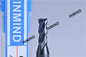 China 1mm 4 Flute HRC55  TiSiN TiAlN Coating , Carbide End Mill ,  Germany Rod , Carbide Milling Cutters on sale