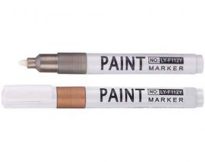 China quick dry ink golden and silver paint marker,oil ink paint marker pen from china factory on sale
