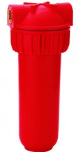 China Red Multi Pure Water Filter Cartridge Housing , FDA Standard Filter Canister Housing on sale