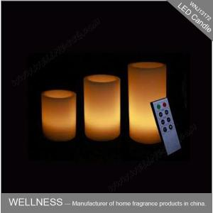 China Flameless Home Scented Candles , Decorative Led Candle Lights With Remote Control on sale