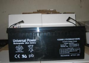 China Rechargeable Sealed Lead Acid Battery 12V 200Ah back up power battery on sale