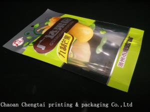 China Dried Fruit Plastic Packaging Bags / Banana Chips Laminated Pouches QS Approval on sale