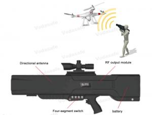 China 4 Frequency Segments Drone Signal Jammer Long Distance Transmission Range on sale