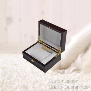 China Luxury Matte Black Men's Gifts Watch Jewelry Cuff Links Storage Display Chest Box with Window , Personalized Logo Brand. on sale