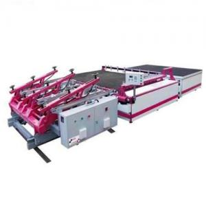 China High Precision Semi Automatic Glass Cutting Machine With Auto Glass Loading / Breaking,Semi-Automatic Glass Cutting Line on sale