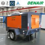 350cfm Industrial Diessel Power Movable Mobile Type Rotary Screw Air Compressors