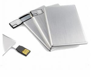 China Novelty metal credit card USB memory sticks 1GB 2GB with print logo or engraved logo  on sale