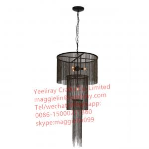 China YL-L1031 Mother Chandelier/ Black Chain Chandelier Pendant Light Black metal chain hanging chandelier on sale
