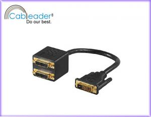 China  Shielding RF interference DVI Monitor Cables DVI 24+1 male To 2 DVI 24+1 female on sale