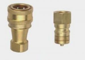China Brass 1 2 Hydraulic Quick Coupler Fittings 2000PSI To 10000PSI on sale