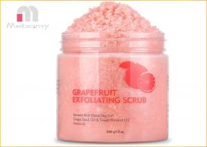 China Grapefruit Dead Sea Salt Skin Care Body Scrub For Deeping Cleanse And Detoxifies on sale