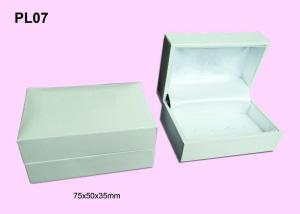 China Rectangle Shaped Plastic Cufflink Boxes, Gift Packaging Box With Hot Stamping Logo on sale