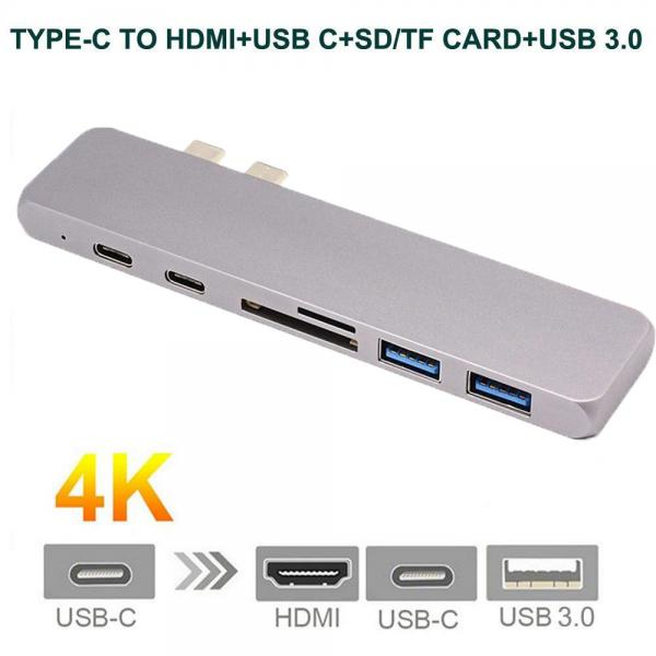 USB C 3.0 Hub Type-C to 4K*2K HDMI Card Reader Adapter For MacBook Mac Pro IOS