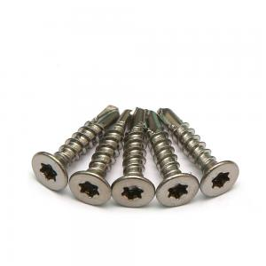 China Hexalobular Socket Countersunk Head Self Drilling Screws A2 Stainless Steel DIN 7504O on sale