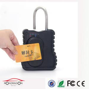 China Metal Smart GPS Padlock FRID Seal Container Real Time Gps Tracker Padlock Waterproof on sale