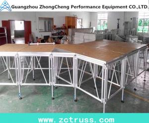 China Wholesale Aluminum Portable Acrylic Stage For Performance on sale