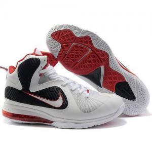 China http://www.cheapnikesjerseys.com china cheap Nike Zoom Lebron James 9 White Black Basketball Shoes on sale