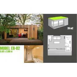 ... China Soundproof Prefabricated Garden Studio / Prefab Garden Shed For  Garden Music Studio For Sale