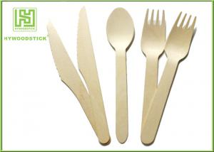 China Biodegradable Eco Friendly Disposable Tableware Wooden Cultery Set Spoon Fork Knife on sale
