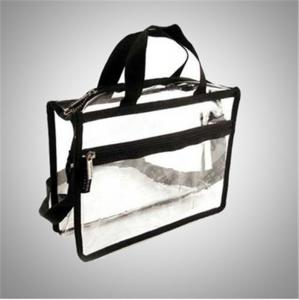 China Recyclable Transparent Pvc Zipper Bag / Travel Storage Bags With Handle on sale
