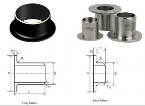 China Round Butt Weld Pipe Fittings 2 SCH40 Seamless Stainless Steel Stub Ends on sale