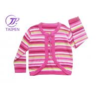 Red Striped 100% Cotton or Acrylic Warm Long Sleeve Knitted Baby Wear Sweater Cardigan