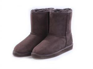 China fashion chestnut half snow woman boot  Hot selling in bulk fox fur women snow platform boots wholesale lady warm winter on sale