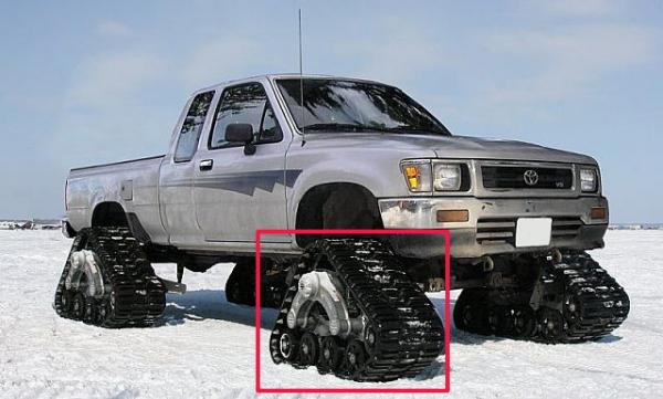 4 Wheel Drive Vehicle Suv Rubber Track Conversion Systems For Pickup Truck In